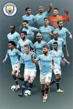 Manchester City Players 18-19 - The Citizens