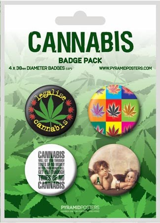Cannabis Will Get You Through - Cannabis Button Badge Pack