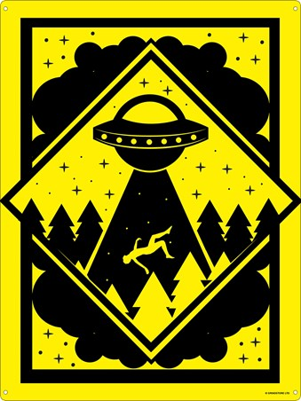 Warning! - Alien Abduction Zone