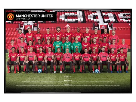 Gloss Black Framed Players 18-19 - Manchester United
