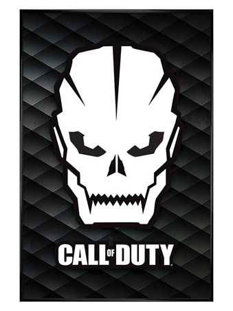 Gloss Black Framed Skull - Call Of Duty