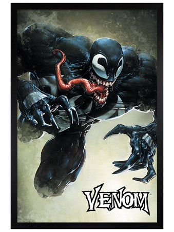 Black Wooden Framed Leap - Venom
