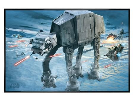 Gloss Black Framed AT-AT Attack - Star Wars