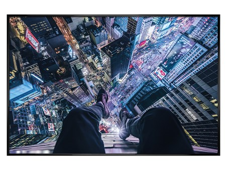 Gloss Black Framed The City That Never Sleeps - On The Edge Of Times Square