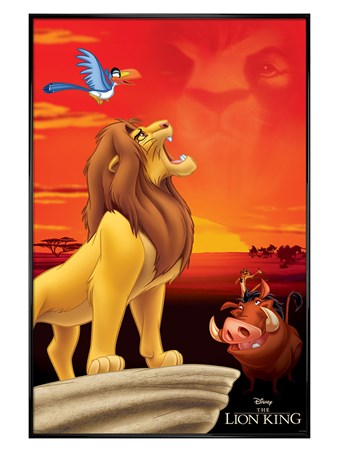 Gloss Black Framed King of Pride Rock - The Lion King