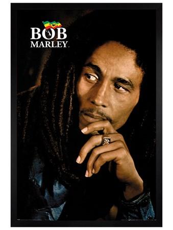 Black Wooden Framed Legend - Bob Marley