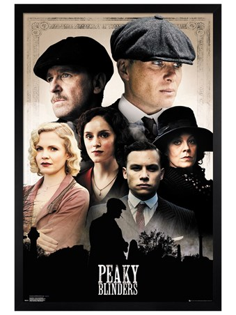 Black Wooden Framed The Shelby Clan - Peaky Blinders