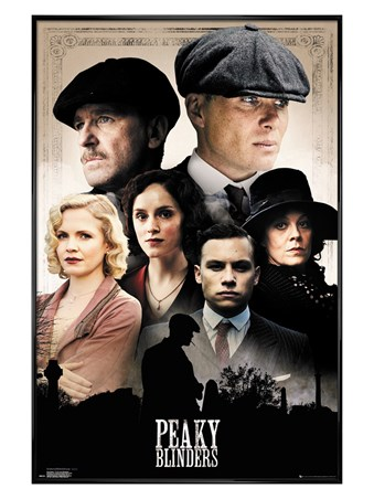 Gloss Black Framed The Shelby Clan - Peaky Blinders