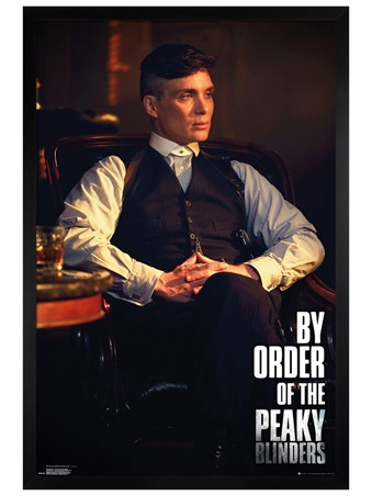 Black Wooden Framed By Order Of The Peaky Blinders - Peaky Blinders