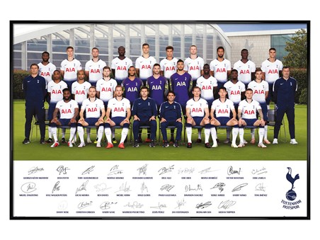 Gloss Black Framed Team Poster 18-19 - Tottenham Hotspur