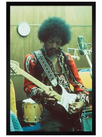 Black Wooden Framed Studio - Jimi Hendrix