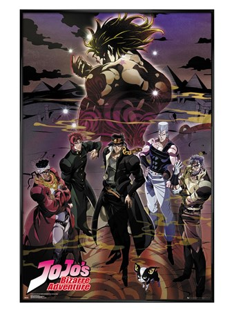 Gloss Black Framed Group - JoJo's Bizarre Adventures