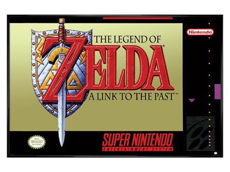 Gloss Black Framed A Link To The Past - The Legend Of Zelda