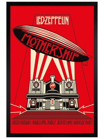 Black Wooden Framed Mothership, Led Zeppelin