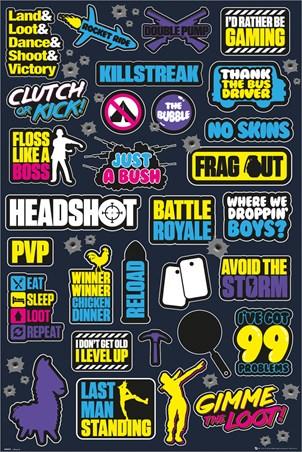 Eat, Sleep, Loot, Repeat - Battle Royale Infographic