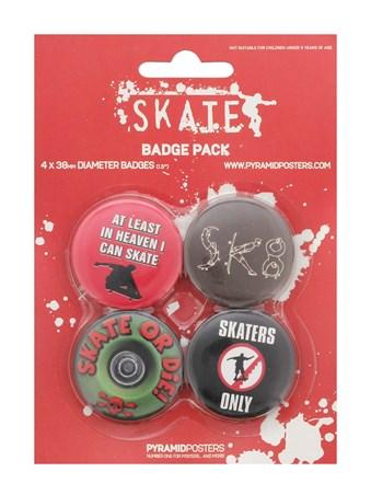 Skate or Die - Skater Badge Pack