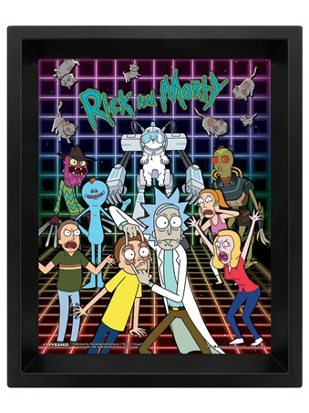 3D Characters Grid - Rick and Morty
