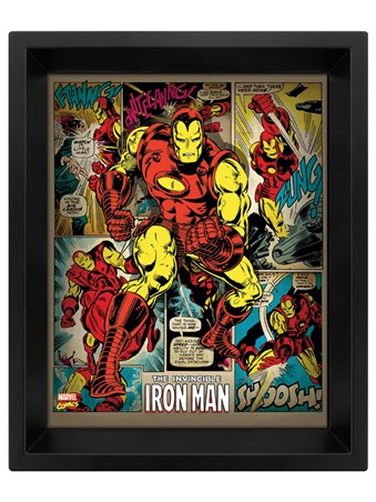 Retro Iron Man - Marvel Lenticular