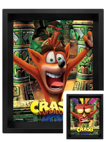 Mask Power Up 3D Lenticular - Crash Bandicoot