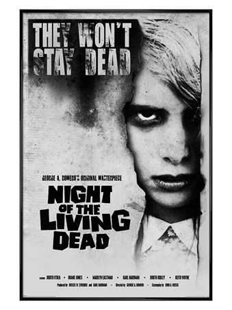 Gloss Black Framed Living Dead Girl - Night of the Living Dead