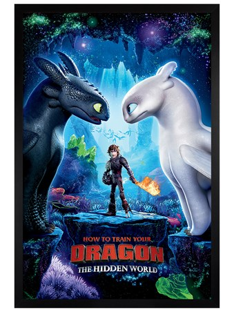 Black Wooden Framed The Hidden World - How To Train Your Dragon