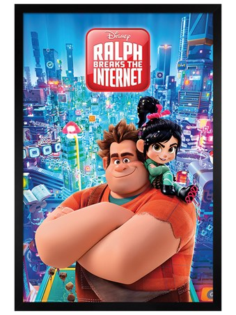 Black Wooden Framed Ralph Breaks the Internet - Wreck-It Ralph
