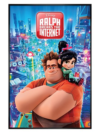 Gloss Black Framed Ralph Breaks the Internet - Wreck-It Ralph