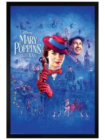 Black Wooden Framed Spit Spot - Mary Poppins Returns