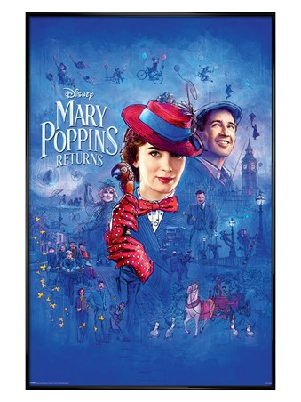 Gloss Black Framed Spit Spot - Mary Poppins Returns