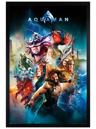 Black Wooden Framed Battle For Atlantis - Aquaman