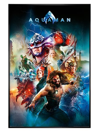 Gloss Black Framed Battle For Atlantis - Aquaman
