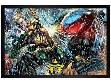 Black Wooden Framed Atlantean Punch - Aquaman