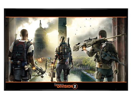 Gloss Black Framed A City In Ruins - The Division 2