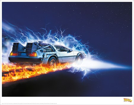 Delorean Fire Light - Back To The Future