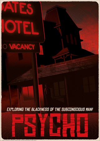 Alfred Hitchcock Psycho Bates Motel Limited Edition Numbered Print -