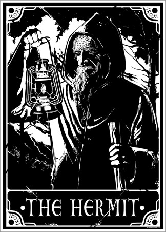 The Hermit - Deadly Tarot