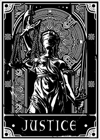 Justice - Deadly Tarot