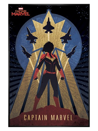 Gloss Black Framed Deco - Captain Marvel