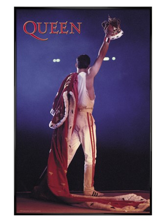 Gloss Black Framed Crown - Queen