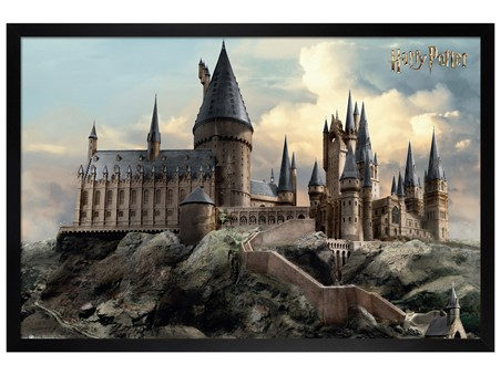 Black Wooden Framed Hogwarts Day - Harry Potter