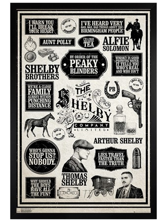 Black Wooden Framed Infographic - Peaky Blinders