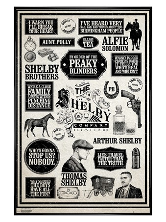 Gloss Black Framed Infographic - Peaky Blinders
