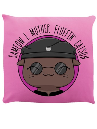 V. I. Pets Sameow L 'Muther Fluffin' Catson Pink Cushion -