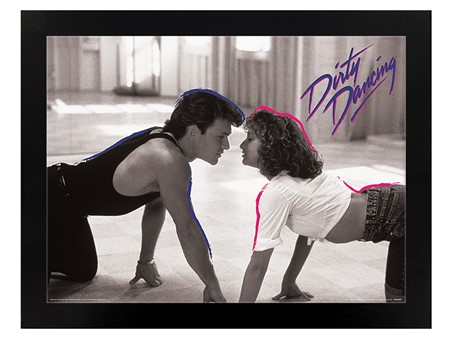 Black Wooden Framed Lover Boy - Dirty Dancing