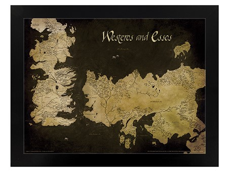 Westeros and Essos Antique Map - Game of Thrones