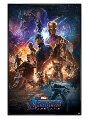 Gloss Black Framed From The Ashes - Avengers: Endgame