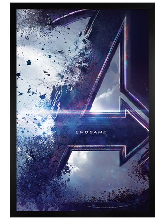 Black Wooden Framed Teaser - Avengers: Endgame