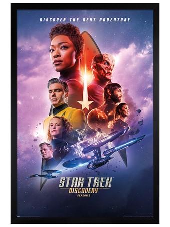 Black Wooden Framed Next Adventure - Star Trek Discovery