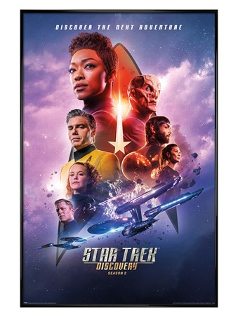 Gloss Black Framed Next Adventure - Star Trek Discovery