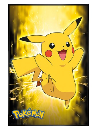 Gloss Black Framed Pikachu Neon - Pokemon